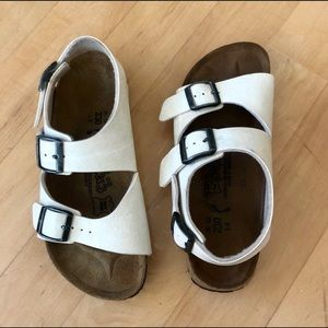 White Birkenstock's Sandals Women 36 SZ 5.5